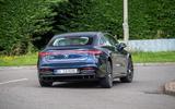 23 Mercedes Benz EQS 2021 UK LHD FD cornering rear