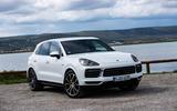 Porsche Cayenne E-Hybrid 2018 review static hero front