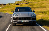 23 Porsche Cayenne Turbo GT 2021 UK FD on road nose