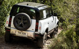 23 Rover Defender PHEV 2021 UK FD off road rear