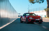 Toyota GR Supra 2019 first drive review - track static front