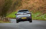 23 Vauxhall Mokka 2021 UK first drive review cornering rear