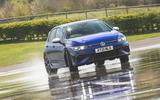 23 Volkswagen Golf R performance pack 2021 UK FD drift front