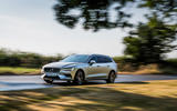 Volvo V60 D4 Inscription 2018 UK first drive review on the road front