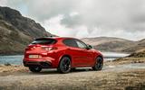 Alfa Romeo Stelvio Quadrifoglio 2018 UK RHD first drive - static rear