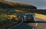 Audi A8 60 TFSIe 2020 UK first drive review - on the road rear