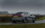 24 Audi E tron S Sportback 2021 UK first drive review cornering