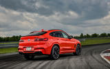 BMW X4 M Competition 2019 first drive review - static rear
