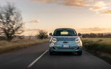 2021 Fiat 500 electric left-hand drive UK review - on the road nose