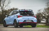24 Hyundai i20 N 2021 UK first drive review static rear