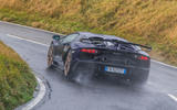 Lamborghini Aventador SVJ 2018 UK first drive review - cornering rear