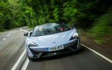 McLaren 570S Spider Track Pack 2018 UK review hero action