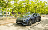 24 Mercedes Benz EQS 2021 UK LHD FD on road front