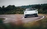 Porsche 911 Targa 2020 UK first drive review - cornering front