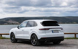 Porsche Cayenne E-Hybrid 2018 review static hero rear