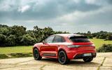 24 Porsche Macan GTS 2021 UK LHD first drive static rear