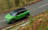 24 Vauxhall Mokka e 2021 UK first drive review on road aerial