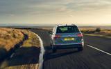 24 Volkswagen Tiguan 2021 UK FD on road rear