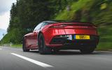 Aston Martin DBS Superleggera 2018 first drive review road driving rear