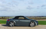 Audi TT Roadster 2019 UK first drive review - static roof up
