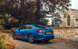 Honda Civic saloon 2018 UK first drive review static rear