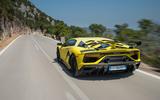 Lamborghini Aventador SVJ 2018 first drive review hero road rear