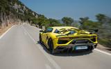 Lamborghini Aventador SVJ 2018 review - on the road rear