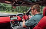 Land Rover Range Rover Sport HST 2019 UK first drive review - Matt Saunders driving