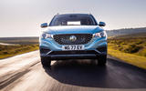MG ZS EV 2019 UK first drive review - on the road nose