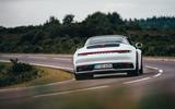Porsche 911 Targa 2020 UK first drive review - cornering rear
