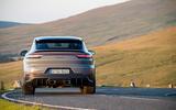 25 Porsche Cayenne Turbo GT 2021 UK FD on road rear