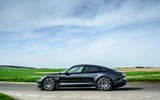Porsche Taycan Turbo 2020 UK first drive review - on the road side