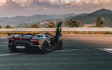 Lamborghini Aventador SVJ Roadster 2019 first drive review - static rear