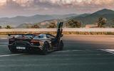 Lamborghini Aventador SVJ Roadster 2019 first drive review - static rear