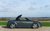 Audi TT Roadster 2019 UK first drive review - static side roof half up