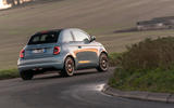 2021 Fiat 500 electric left-hand drive UK review - cornering rear