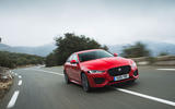 Jaguar XE P300 2019 first drive review - on the road front
