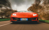 Lamborghini Huracán Spyder 2020 UK first drive review - on the road nose