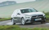 Mercedes-Benz A-Class 2018 long-term review - cornering front