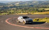 26 Porsche Cayenne Turbo GT 2021 UK FD cornering front
