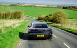 Porsche Taycan Turbo 2020 UK first drive review - on the road rear