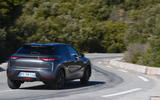 DS 3 Crossback 2019 first drive review - cornering rear