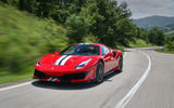 Ferrari 488 Pista 2018 review hero action