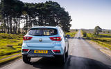 MG ZS EV 2019 UK first drive review - on the road rear