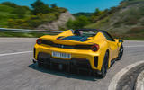 Ferrari 488 Pista Spider 2019 first drive review - on the road rear
