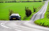 Porsche Taycan Turbo 2020 UK first drive review - roads rear