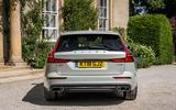 Volvo V60 D4 Inscription 2018 UK first drive review static rear