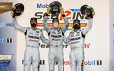 29 Sebring 12 Hour podium celebrations for Mazda