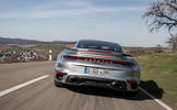 Porsche 911 Turbo S 2020 first drive review - road rear end