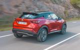 Nissan Juke 2019 first drive review - hero rear